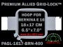 16 x 17 cm (6.5 x 7 inch) Rectangular Premium Allied Grid-Lock Plastic Embroidery Hoop - Bernina 400