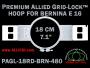 18 cm (7.1 inch) Round Premium Allied Grid-Lock Plastic Embroidery Hoop - Bernina 480