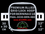 30 x 30 cm (12 x 12 inch) Square Premium Allied Grid-Lock Plastic Embroidery Hoop - Bernina 480