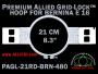21 cm (8.3 inch) Round Premium Allied Grid-Lock Plastic Embroidery Hoop - Bernina 480
