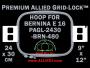 24 x 30 cm (9 x 12 inch) Rectangular Premium Allied Grid-Lock Plastic Embroidery Hoop - Bernina 480