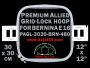 30 x 30 cm (12 x 12 inch) Square Premium Allied Grid-Lock Plastic Embroidery Hoop - Bernina 480