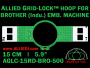 Brother 15 cm (5.9 inch) Round Allied Grid-Lock Embroidery Hoop (New Design) for 500 mm Sew Field / Arm Spacing