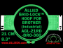Brother 21 cm (8.3 inch) Round Allied Grid-Lock Embroidery Hoop for 360 mm Sew Field / Arm Spacing