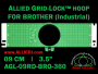 Brother 9 cm (3.5 inch) Round Allied Grid-Lock Embroidery Hoop for 360 mm Sew Field / Arm Spacing