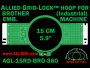 Brother 15 cm (5.9 inch) Round Allied Grid-Lock Embroidery Hoop (New Design) for 360 mm Sew Field / Arm Spacing