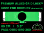 9 cm (3.5 inch) Round Premium Allied Grid-Lock Plastic Embroidery Hoop - Brother 360