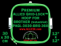 30 x 30 cm (12 x 12 inch) Square Premium Allied Grid-Lock Plastic Embroidery Hoop - Brother 360