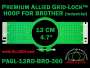 12 cm (4.7 inch) Round Premium Allied Grid-Lock Plastic Embroidery Hoop - Brother 360