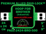 24 x 24 cm (9 x 9 inch) Square Premium Allied Grid-Lock Plastic Embroidery Hoop - Brother 500
