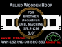 15.2 cm (6.0 inch) Round Allied Wooden Embroidery Hoop, Double Height - Brother 360