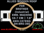 19.7 cm (7.8 inch) Round Allied Wooden Embroidery Hoop, Double Height - Brother 360