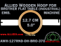 12.7 cm (5.0 inch) Round Allied Wooden Embroidery Hoop, Double Height - Brother 370 Flat Table