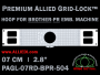 Brother PR 7 cm (2.8 inch) Round Premium Allied Grid-Lock Embroidery Hoop for 504 mm Sew Field / Arm Spacing