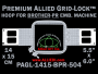 Brother PR 14 x 15 cm (5.5 x 6 inch) Rectangular Premium Allied Grid-Lock Embroidery Hoop for 504 mm Sew Field / Arm Spacing