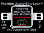 Brother PR 24 x 24 cm (9 x 9 inch) Square Premium Allied Grid-Lock Embroidery Hoop for 504 mm Sew Field / Arm Spacing