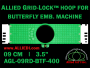 9 cm (3.5 inch) Round Allied Grid-Lock Plastic Embroidery Hoop - Butterfly 400