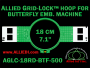 18 cm (7.1 inch) Round Allied Grid-Lock (New Design) Plastic Embroidery Hoop - Butterfly 500