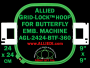 24 x 24 cm (9 x 9 inch) Square Allied Grid-Lock Plastic Embroidery Hoop - Butterfly 360