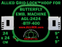 24 x 24 cm (9 x 9 inch) Square Allied Grid-Lock Plastic Embroidery Hoop - Butterfly 400