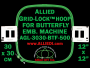 30 x 30 cm (12 x 12 inch) Square Allied Grid-Lock Plastic Embroidery Hoop - Butterfly 500 - Allied May Substitute this with Premium Version Hoop