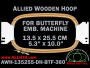 13.5 x 25.5 cm (5.3 x 10.0 inch) Rectangular Allied Wooden Embroidery Hoop, Double Height - Butterfly 360