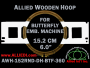 15.2 cm (6.0 inch) Round Allied Wooden Embroidery Hoop, Double Height - Butterfly 360