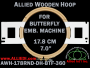 17.8 cm (7.0 inch) Round Allied Wooden Embroidery Hoop, Double Height - Butterfly 360
