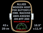 43.0 x 29.0 cm (16.9 x 11.4 inch) Rectangular Allied Wooden Embroidery Hoop, Double Height - Butterfly 360