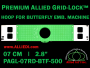 7 cm (2.8 inch) Round Premium Allied Grid-Lock Plastic Embroidery Hoop - Butterfly 500
