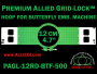 12 cm (4.7 inch) Round Premium Allied Grid-Lock Plastic Embroidery Hoop - Butterfly 500