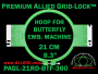 21 cm (8.3 inch) Round Premium Allied Grid-Lock Plastic Embroidery Hoop - Butterfly 360