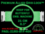 21 cm (8.3 inch) Round Premium Allied Grid-Lock Plastic Embroidery Hoop - Butterfly 400