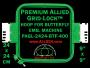 24 x 24 cm (9 x 9 inch) Square Premium Allied Grid-Lock Plastic Embroidery Hoop - Butterfly 400