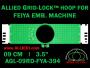 9 cm (3.5 inch) Round Allied Grid-Lock Plastic Embroidery Hoop - Feiya 394