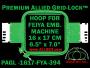 16 x 17 cm (6.5 x 7 inch) Rectangular Premium Allied Grid-Lock Plastic Embroidery Hoop - Feiya 394