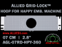 7 cm (2.8 inch) Round Allied Grid-Lock Plastic Embroidery Hoop - Happy 360