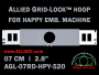 7 cm (2.8 inch) Round Allied Grid-Lock Plastic Embroidery Hoop - Happy 520