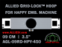 9 cm (3.5 inch) Round Allied Grid-Lock Plastic Embroidery Hoop - Happy 450