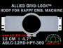 12 cm (4.7 inch) Round Allied Grid-Lock (New Design) Plastic Embroidery Hoop - Happy 360