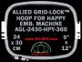24 x 30 cm (9 x 12 inch) Rectangular Allied Grid-Lock Plastic Embroidery Hoop - Happy 360