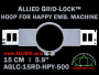 15 cm (5.9 inch) Round Allied Grid-Lock (New Design) Plastic Embroidery Hoop - Happy 500