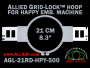 21 cm (8.3 inch) Round Allied Grid-Lock Plastic Embroidery Hoop - Happy 500