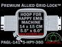 14 x 15 cm (5.5 x 6 inch) Rectangular Premium Allied Grid-Lock Plastic Embroidery Hoop - Happy 360