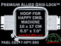 16 x 17 cm (6.5 x 7 inch) Rectangular Premium Allied Grid-Lock Plastic Embroidery Hoop - Happy 360