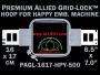 16 x 17 cm (6.5 x 7 inch) Rectangular Premium Allied Grid-Lock Plastic Embroidery Hoop - Happy 500