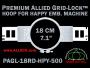 18 cm (7.1 inch) Round Premium Allied Grid-Lock Plastic Embroidery Hoop - Happy 500