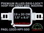 19 x 20 cm (7.5 x 8 inch) Rectangular Premium Allied Grid-Lock Plastic Embroidery Hoop - Happy 500