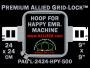24 x 24 cm (9 x 9 inch) Square Premium Allied Grid-Lock Plastic Embroidery Hoop - Happy 500