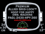 24 x 30 cm (9 x 12 inch) Rectangular Premium Allied Grid-Lock Plastic Embroidery Hoop - Happy 360